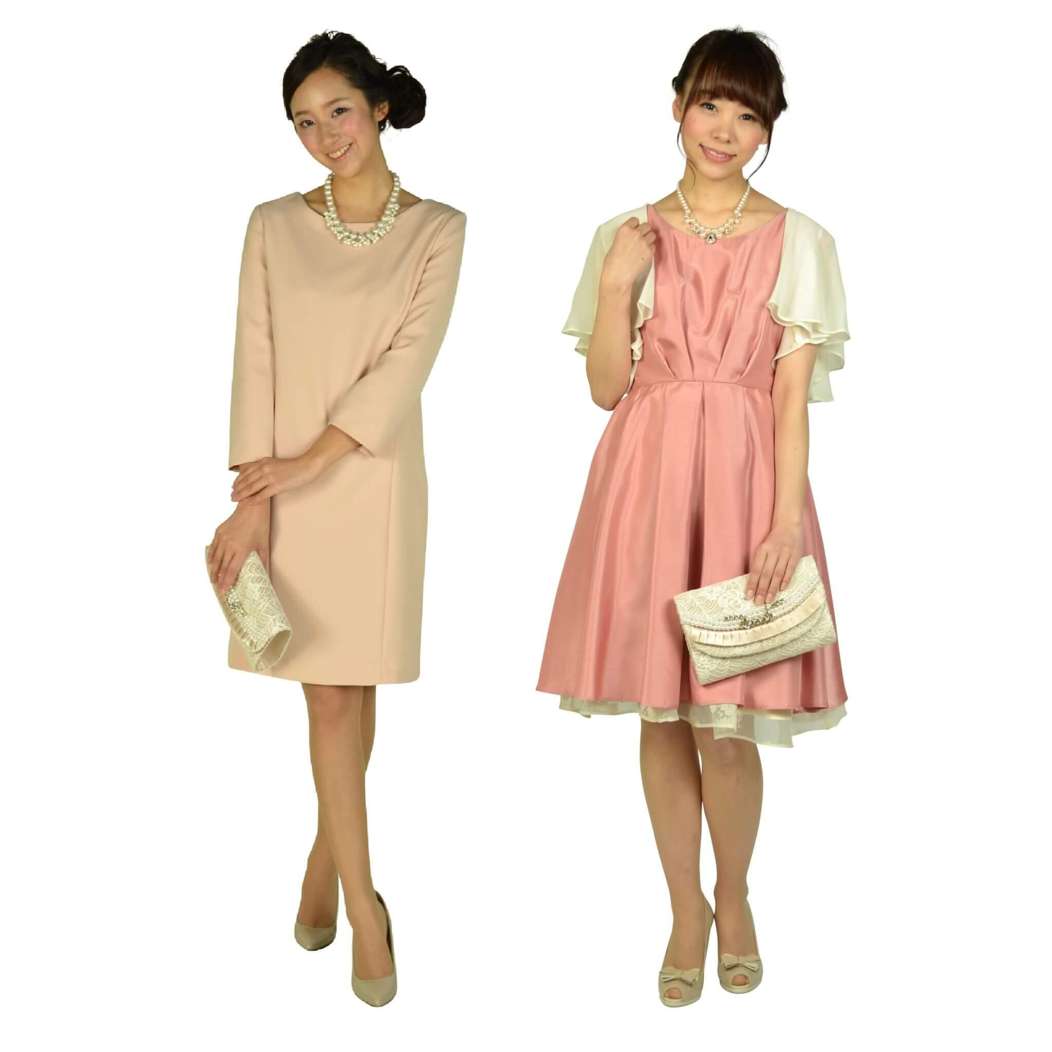 ドレスが明るめカラーのときは華やぎ感ある印象に