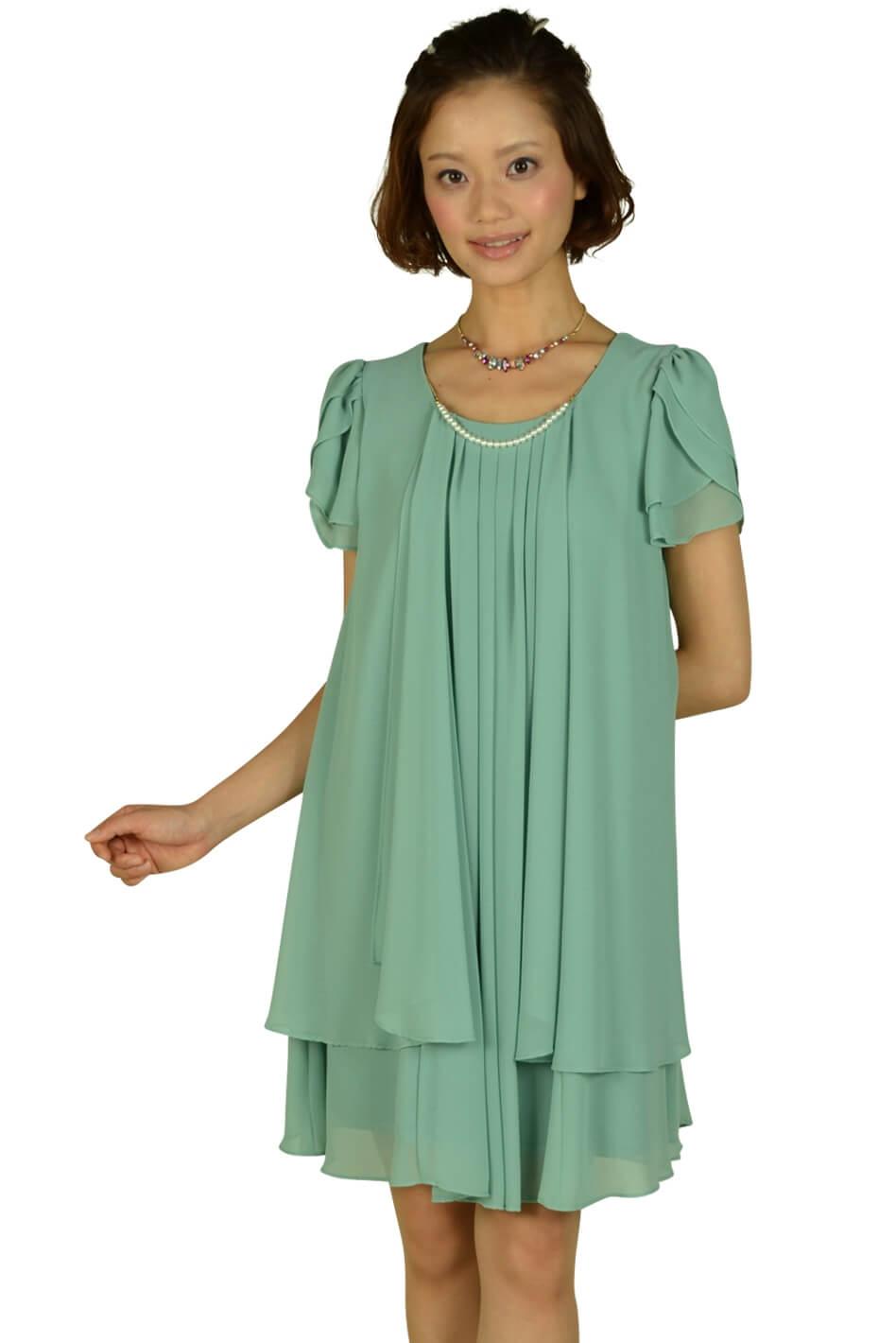 ドーリードール(Dorry Doll)ティアードスリーブミントドレス