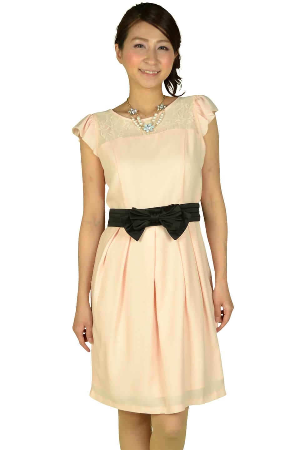 レッセパッセ(LAISSE PASSE) ヨークレースセミタイトドレス