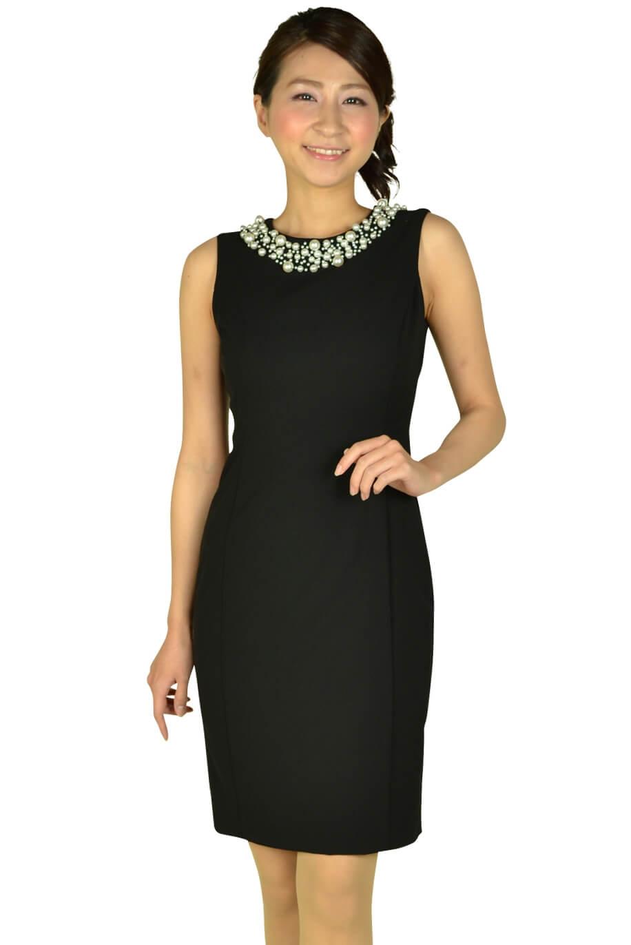 カルバンクライン (Calvin Klein)ビジュタイトブラックドレス