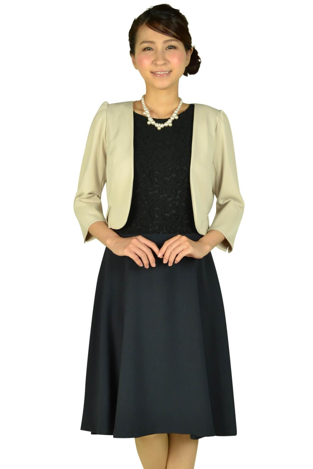 ヴァンドゥーオクトーブル (22 OCTOBRE)ブラックレース×ネイビードレスセット