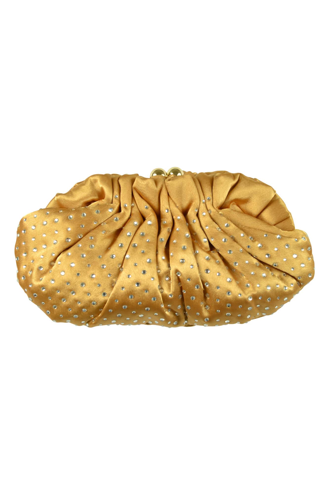 カシェリエ (Cachellie)マスタードクリスタルバッグ