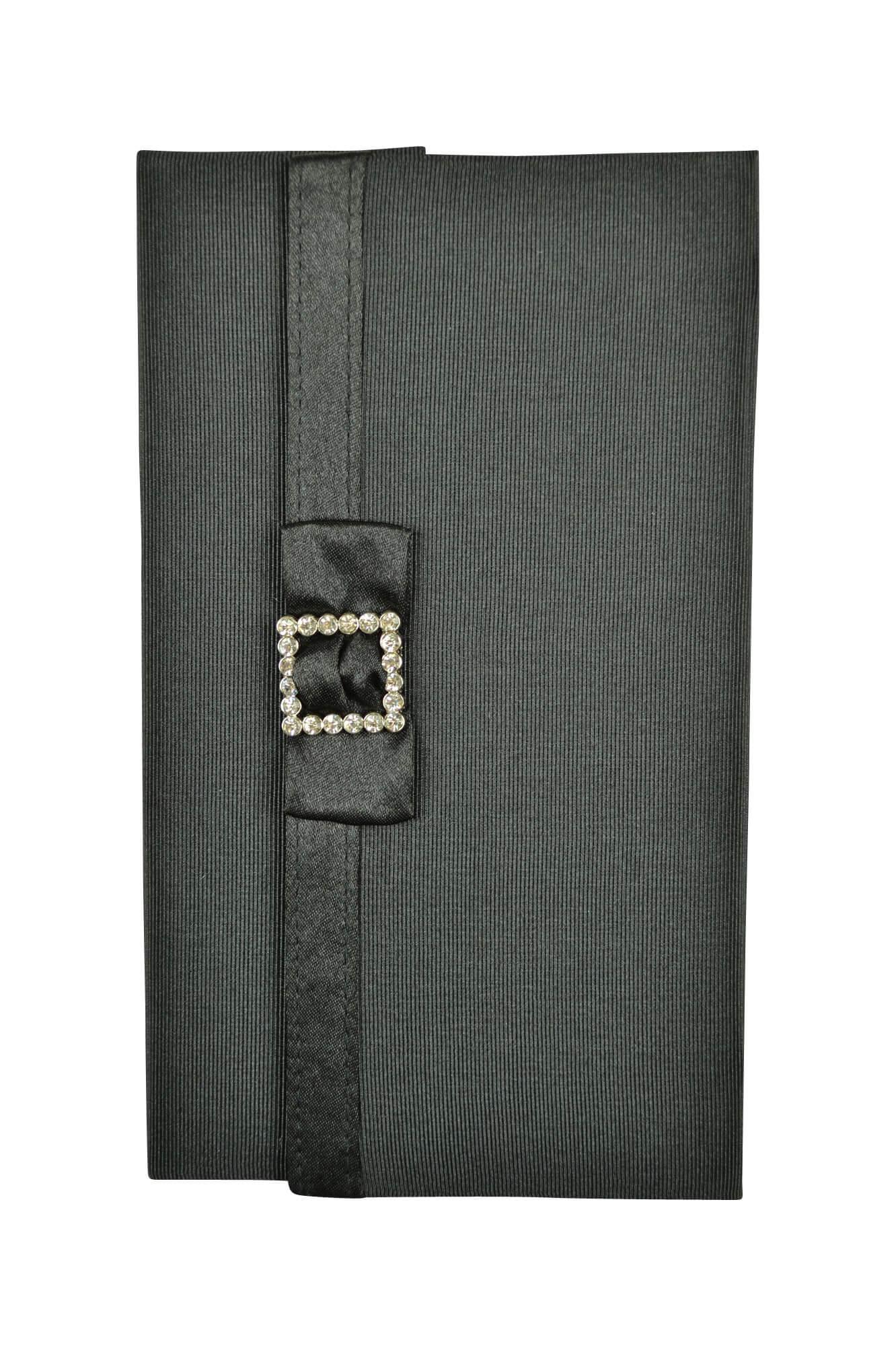 バサージュ ミニョン(passage mignon) ブラックシンプルクリスタル袱紗