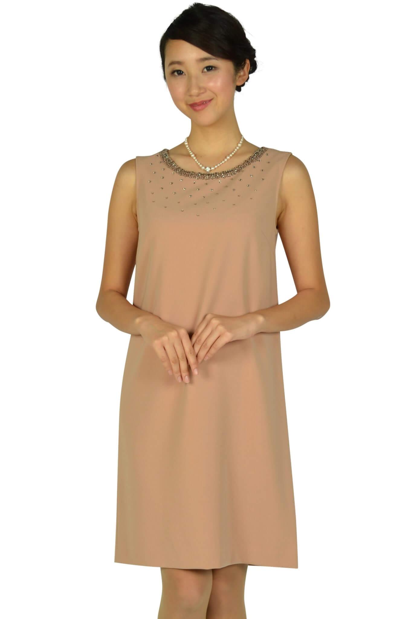 アナイ (ANAYI)上質ピンクベージュドレス