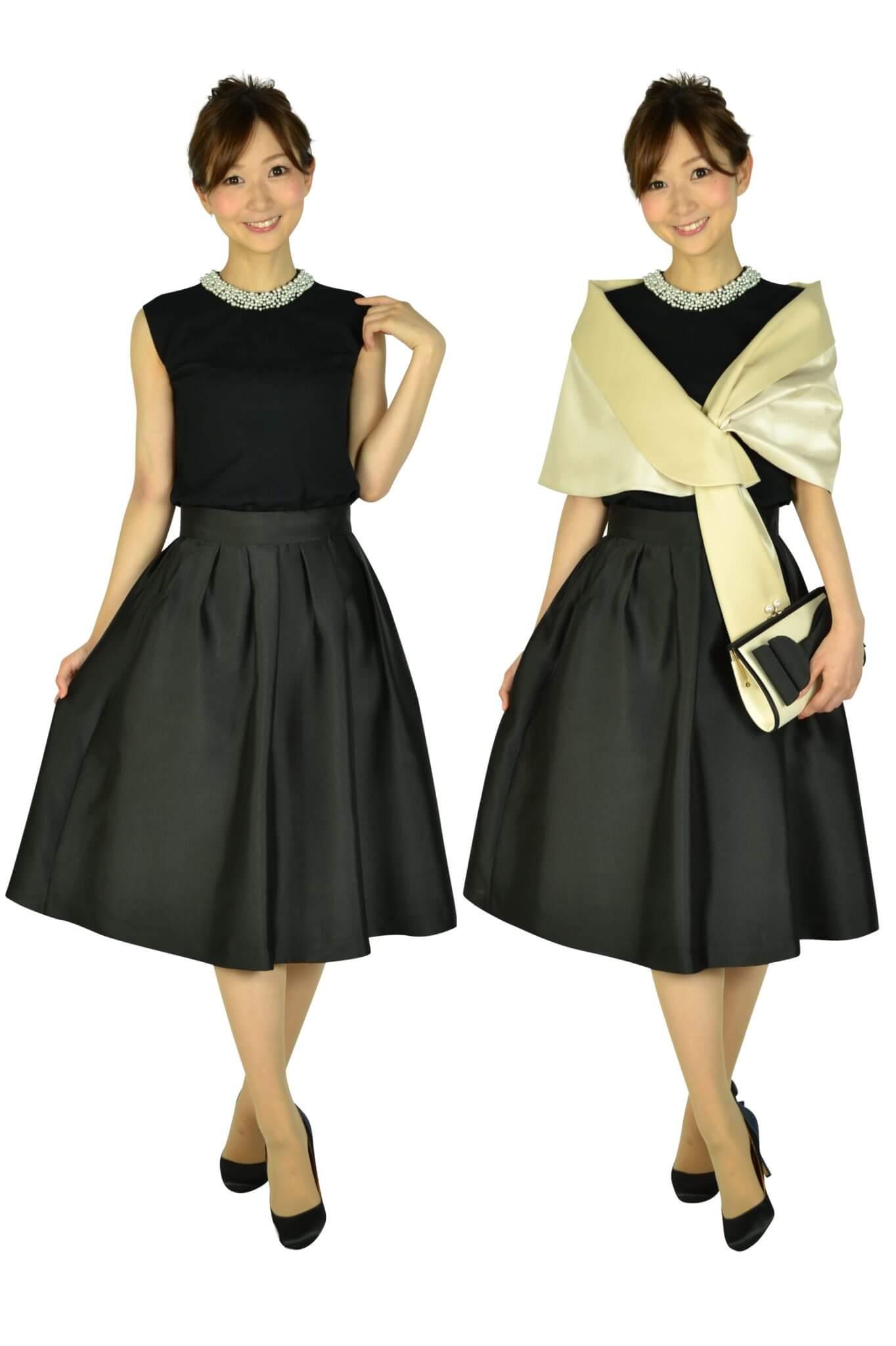 アティラントーレ (Attirantore)サマーニットトップスブラックドレス