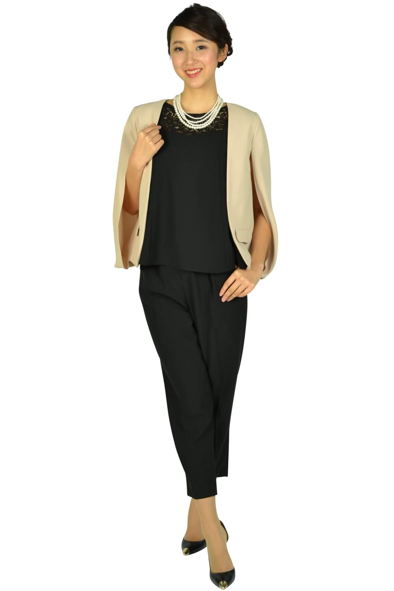 リプリート(REPLETE) フレア袖ブラックパンツドレスセット