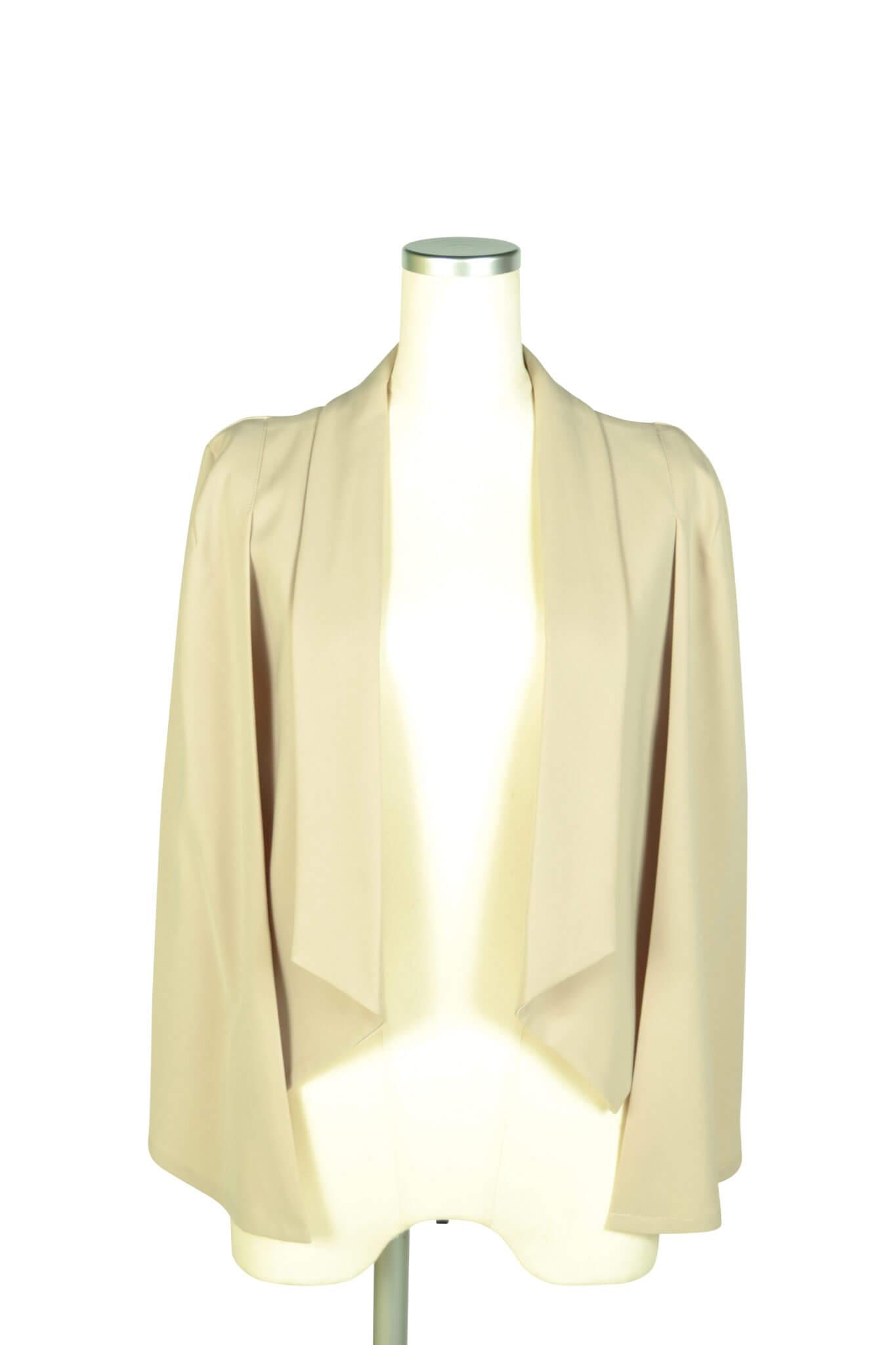 エルモソ リュクス (Hermoso luxe)襟付きケープ袖ベージュジャケット