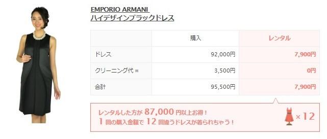 EMPORIO ARMANI  ハイデザインブラックドレス