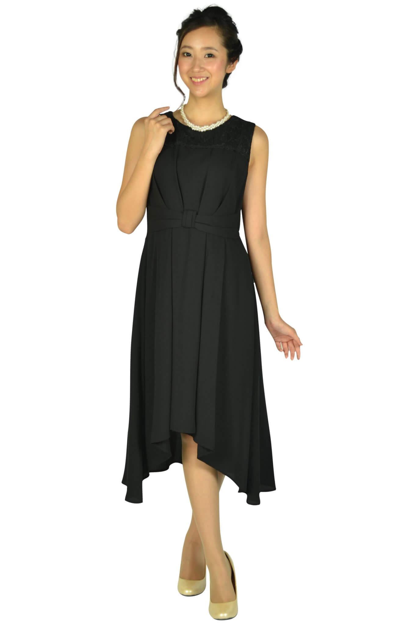 エルモソ (Hermoso)イレギュラーヘムブラックドレス