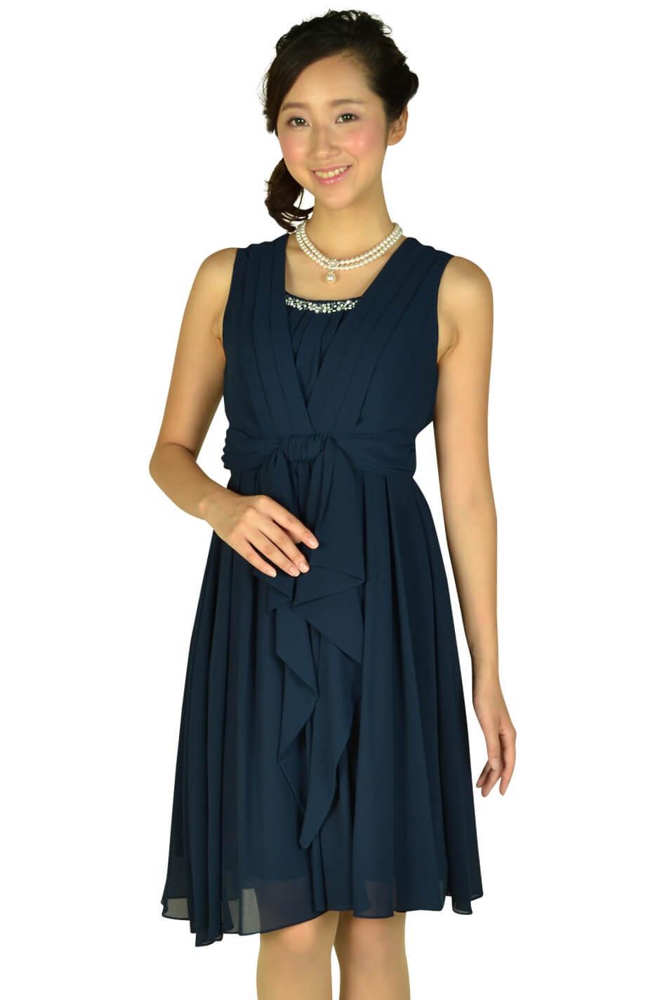 ビヲミナ(VIWOMINA) 上品ネイビードレス