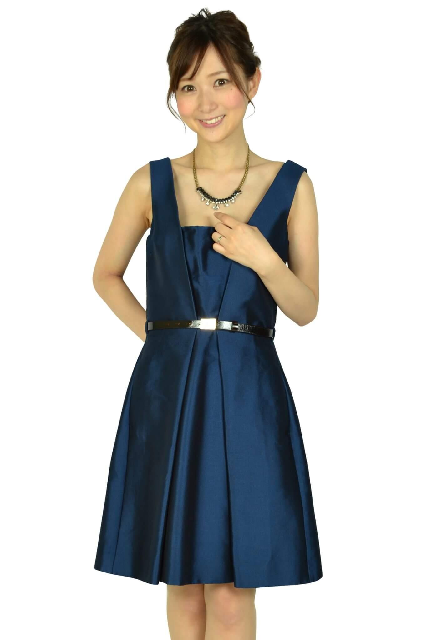 ディースクエアード (DSQUARED2)ベルト付きネイビードレス