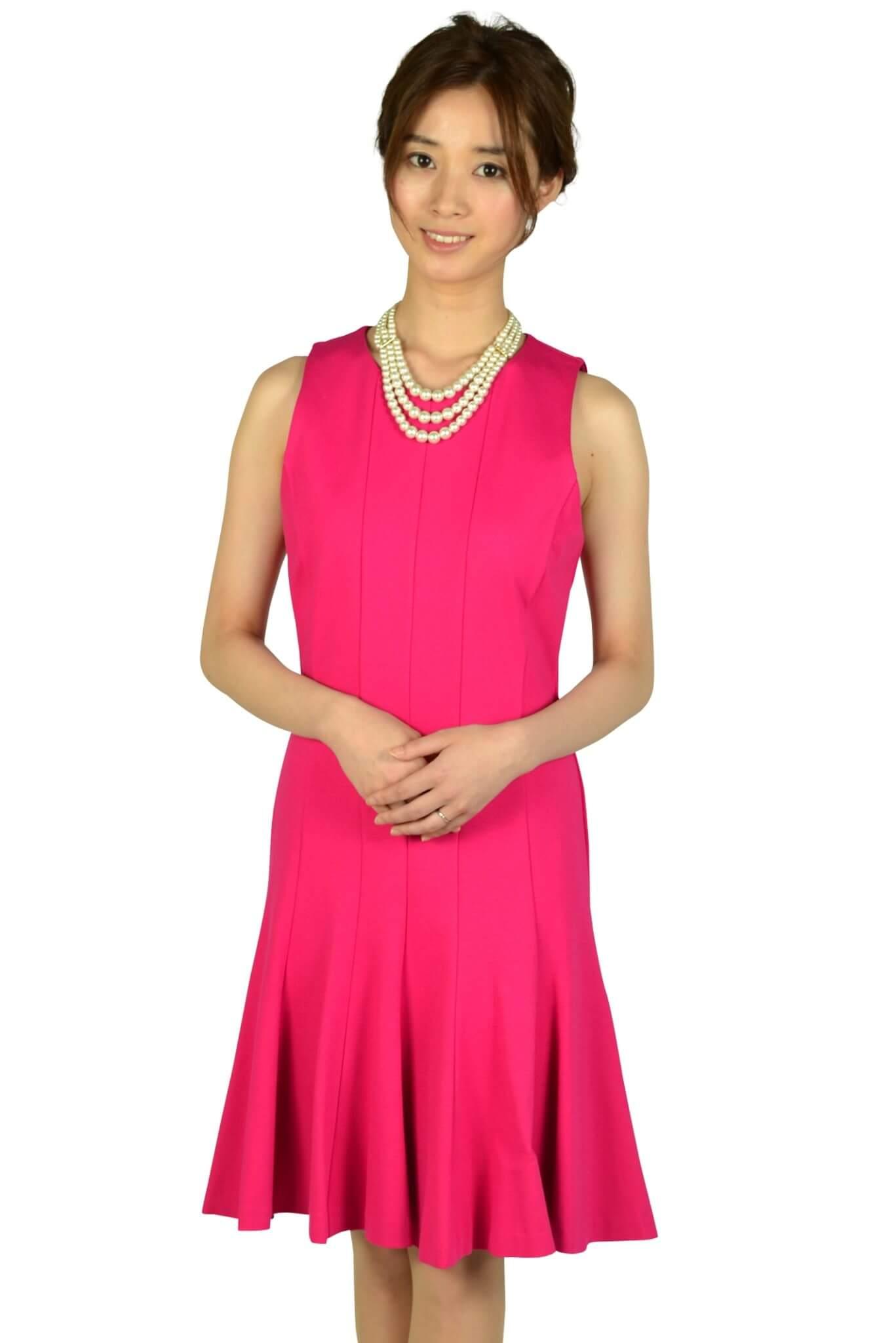 マイケルマイケルコース (MICHAEL MICHAEL KORS)トランペットスカートフューシャピンクドレス