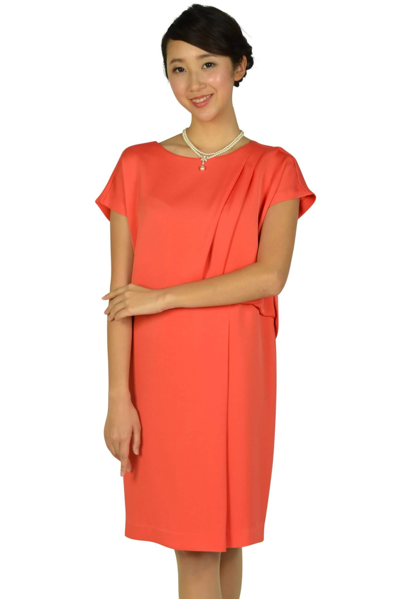 グレースクラス (GRACE CLASS)フレンチスリーブオレンジドレス