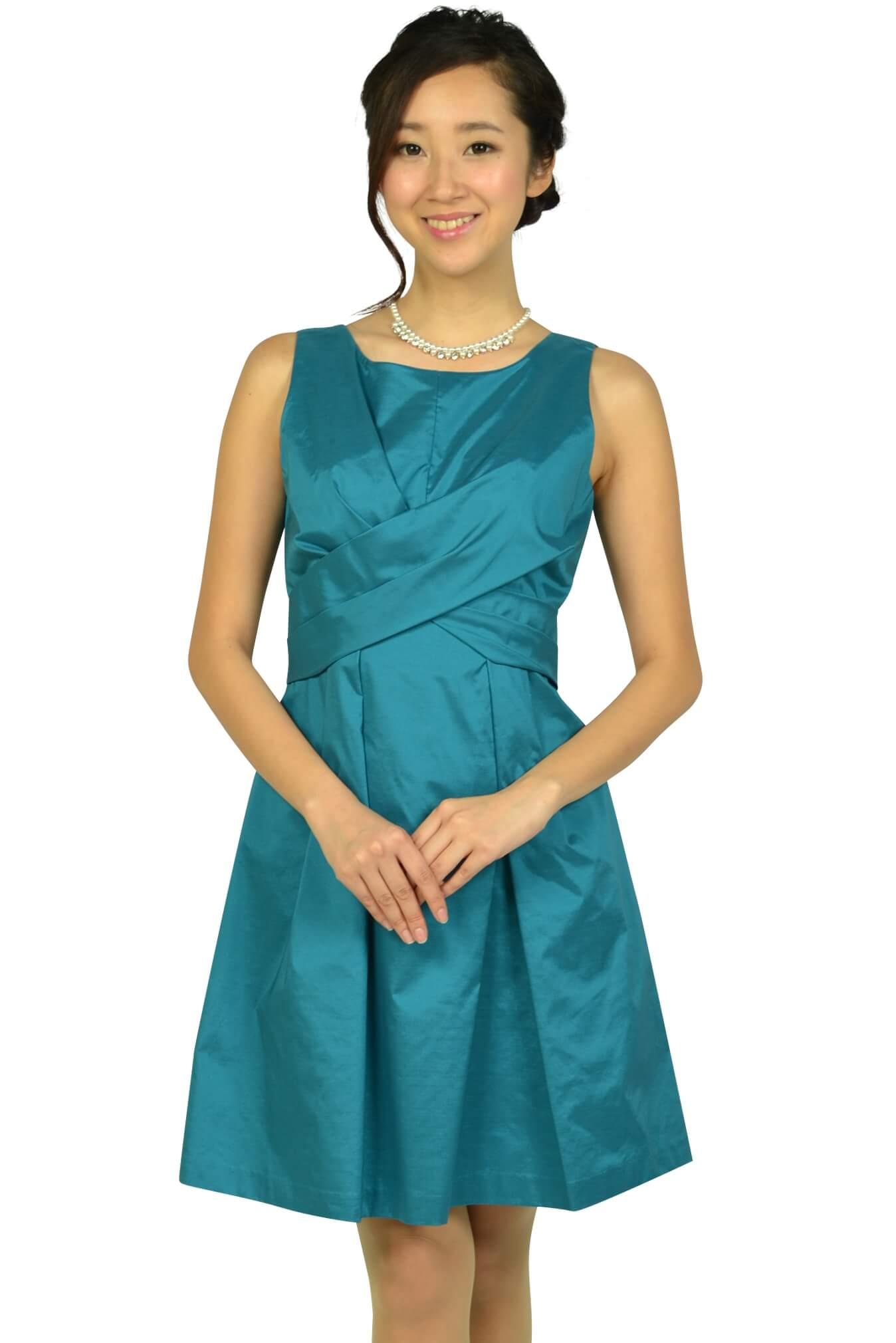 リランドチュール (Rirandture)フェミニンタックブルーグリーンドレス