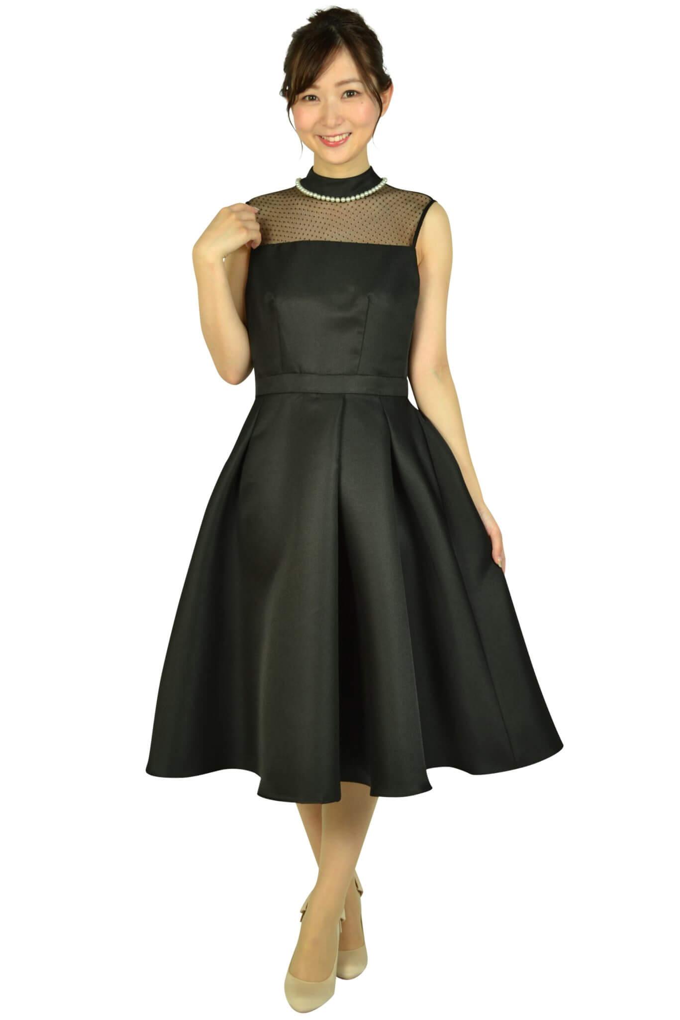 アイアム (I am...)ボトルネックパールブラックドレス