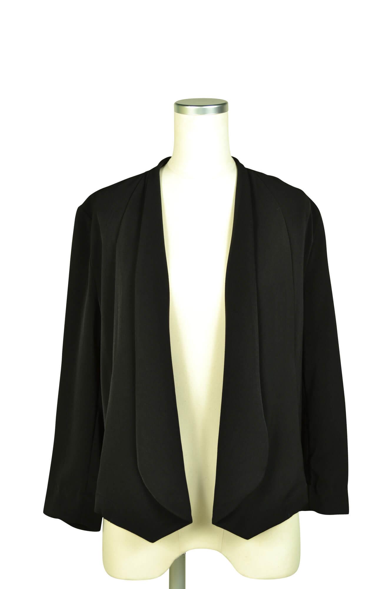 エルモソ (Hermoso)スタイリッシュ8分袖ブラックジャケット