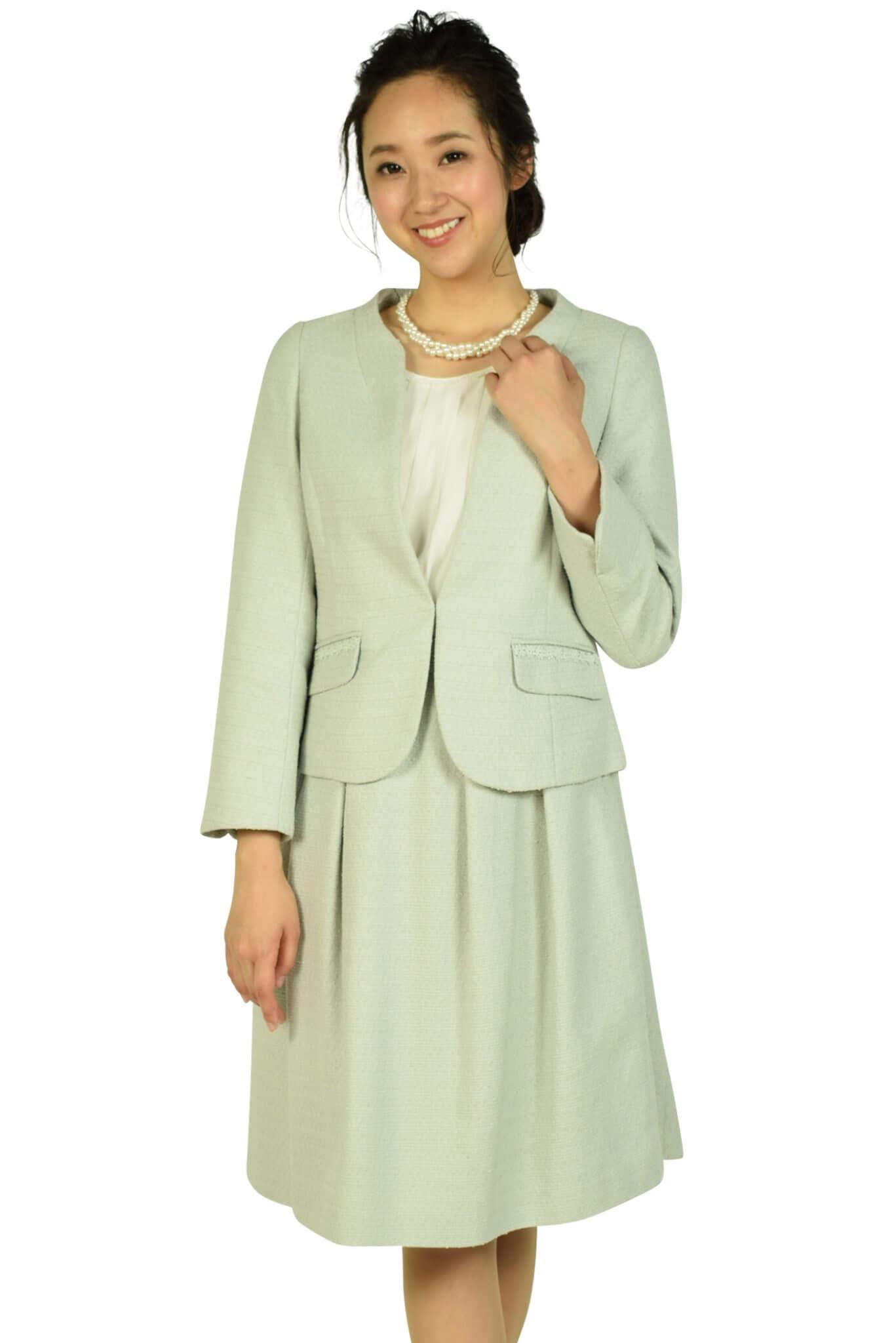 クチュールブローチ (Couture Brooch)ノーカラーミルキーブルースーツセット